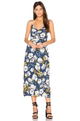 Minkpink Pacifico Midi Slip Dress Blue