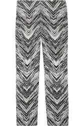 Missoni Cropped Wool Blend Jacquard Flared Pants
