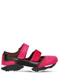 Marni 20Mm Ponyskin And Leather Sneakers Pink Black