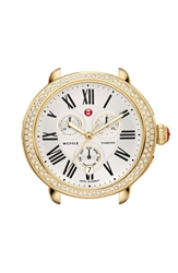 Michele 'Serein' Diamond Gold Plated Watch Case 40Mm X 38Mm