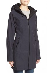 Ilse Jacobsen Women's Regular Fit Hooded Raincoat Indigo