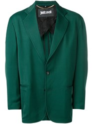 Just Cavalli Rear Contrast Fitted Blazer Green