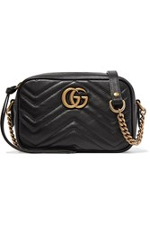 Gucci Gg Marmont Camera Mini Quilted Leather Shoulder Bag Black