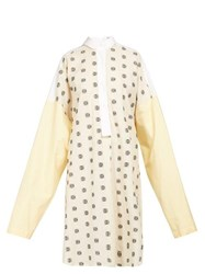 Loewe Anagram Embroidery Poplin Shirtdress White Multi