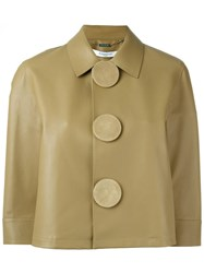 Givenchy Cropped Buttoned Jacket Brown