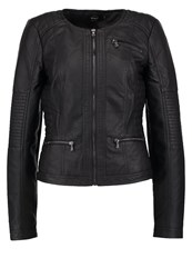 Only Onlcynthia Faux Leather Jacket Black