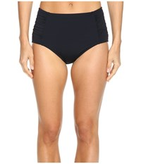 Jantzen Signature Solids High Waist Bottom Black Women's Swimwear