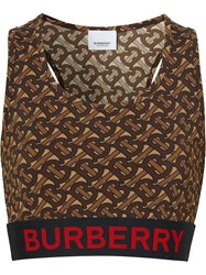 Burberry Monogram Print Stretch Jersey Cropped Top 60