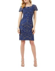 Phase Eight Braylie Embroidered Sheath Dress Iris
