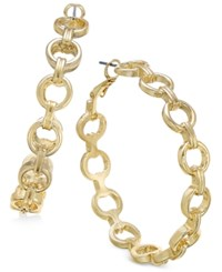 Thalia Sodi Gold Tone Chain Link Hoop Earrings Only At Macy's