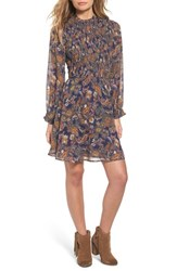 Sun And Shadow Women's Paisley Smocked Dress