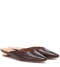 Loq Carmen Snake Effect Mules Brown