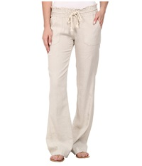 Roxy Ocean Side Pant Stone Women's Casual Pants White