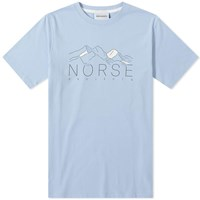 Norse Projects Niels Mountains Tee Blue