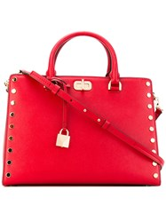 Michael Michael Kors Sylvie Tote Bag Women Leather One Size Red