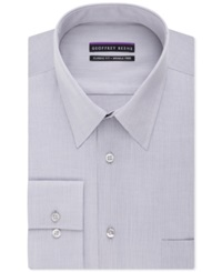 Geoffrey Beene Non Iron Bedford Cord Solid Dress Shirt Chrome