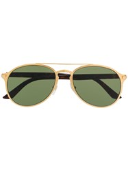 Cartier Tinted Aviator Sunglasses 60