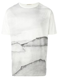 Nudie Jeans Co Watercolour Print Relaxed Fit T Shirt Nude And Neutrals