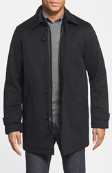 Men's Golden Bear 'Storm Top' Wool Car Coat Black