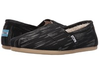 Toms Seasonal Classics Black Brushed Woven Men's Slip On Shoes