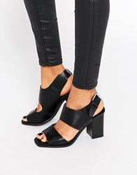 Truffle Collection Bexley Strap Block Heeled Sandals Black