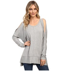 Culture Phit Andreea Top With Side Slits Heather Grey Women's Clothing Gray