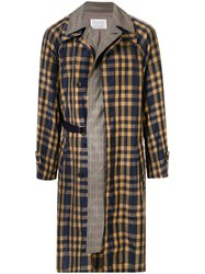 Kolor Layered Checked Print Coat Multicolour