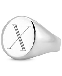 Sarah Chloe Initial Signet Ring In Sterling Silver X