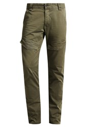 Q S Designed By Cargo Trousers Green Mottled Olive