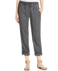 Calvin Klein Jeans Cropped Tencel Jogger Pants Storm Gray Wash Storm Grey