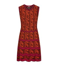 M Missoni Chevron Knit Dress Female Orange