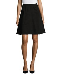 Lord And Taylor Gingham Ponte Skirt Black