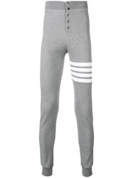 Thom Browne 4 Bar Compact Waffle Long Johns Grey