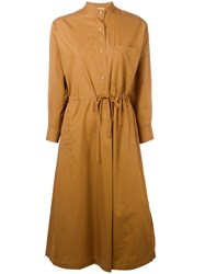 Veronique Leroy Wrap Dress Women Cotton 40 Brown