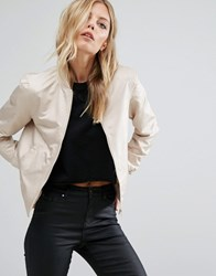 Noisy May Shiny Bomber Jacket Humus Beige