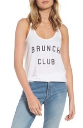 South Parade Women's Brunch Club Tank White