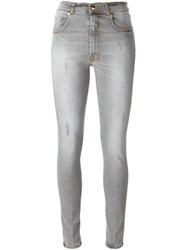 People People 'Vicky' Skinny Jeans Grey