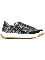 Burberry Logo Lace Up Sneakers Black