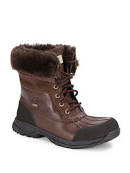 Ugg Butte Waterproof Sheepskin And Lamb Fur Boots Brown