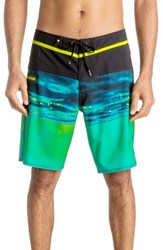 Quiksilver Men's Hold Down Vee Board Shorts Safety Yellow