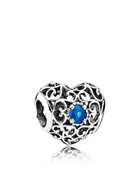 Pandora Design Pandora Charm Sterling Silver And Crystal December Signature Heart
