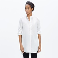 Madewell Button Down Tunic Shirt With Pockets