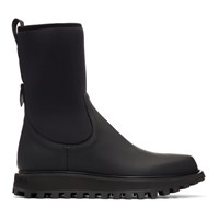 Dolce And Gabbana Black Vulcano Chelsea Boots