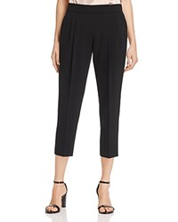 Dylan Gray Pleated Crepe Crop Pants 100 Exclusive Black