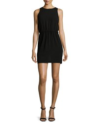 Halston Heritage Sleeveless Cutout Back Mini Dress Black