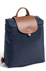 Longchamp 'Le Pliage' Backpack Blue