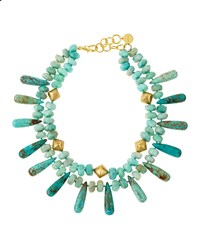 Amazonite And Turquoise Double Strand Necklace Nest Jewelry