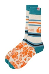 Quiksilver Front Board Fashion Socks White