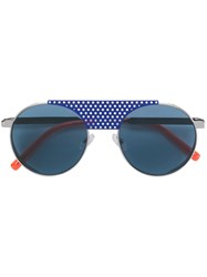 Oxydo Round Tinted Sunglasses Blue