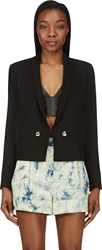 Anthony Vaccarello Black Shawl Collar Ottoman Blazer